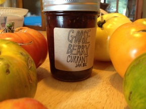 Gooseberry Currant Jam Tarts from Shady Acres Organic Farm