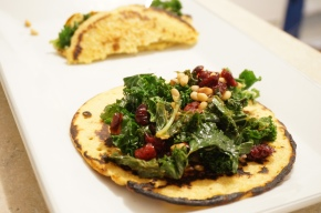 Another Tribute to Giada – Soccas with Kale and Cranberries