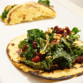 Another Tribute to Giada – Soccas with Kale andCranberries